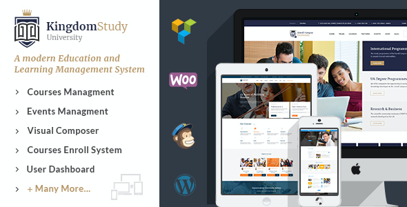 test Kingdom Study - WP Learning Management System WordPress Theme