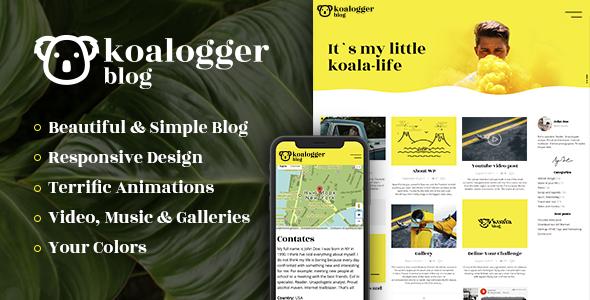 Test du thème WordPress Koalogger , découvrez notre avis
