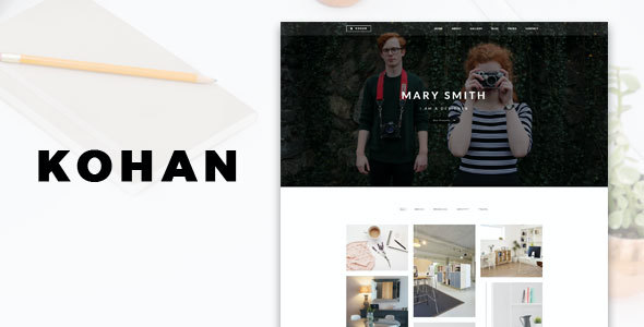 test Kohan - Minimal Portfolio WordPress Theme