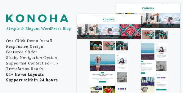 Test du thème WordPress Konoha , découvrez notre avis