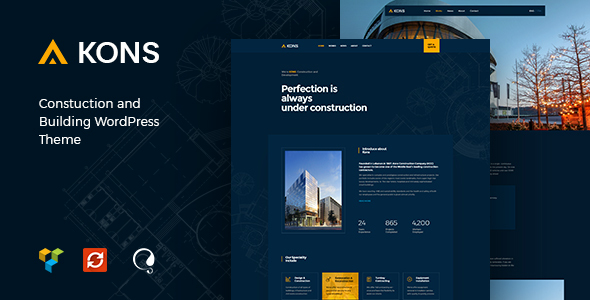 test Kons - Construction and Building WordPress Theme