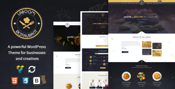 test La Boom - Food & Restaurant Bistro WordPress Theme