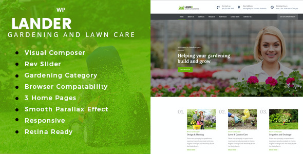 test Lander - Landscaping WordPress Theme