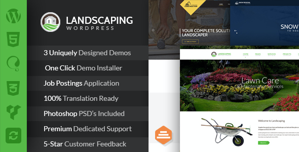 test Landscaping - Lawn & Garden, Landscape Construction, & Snow Removal WordPress Theme