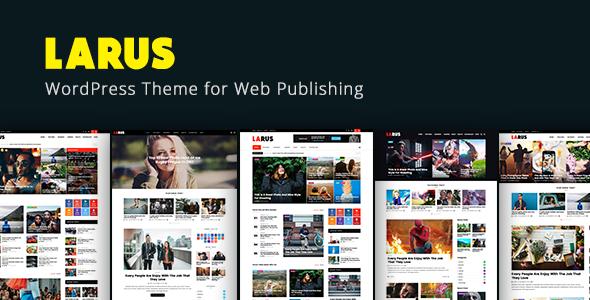 Test du thème WordPress Larus , voici notre avis