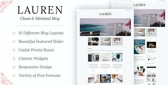 Test du thème WordPress Lauren , voici notre avis