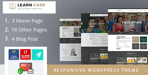 test LearnCare Educational WordPress Theme