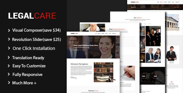 Test du thème WordPress Legalcare , découvrez notre avis