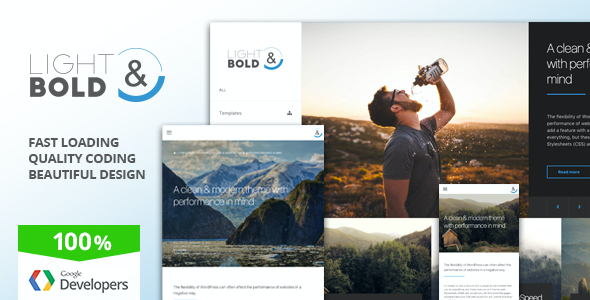 test Light & Bold - Speed-Focused WordPress Theme