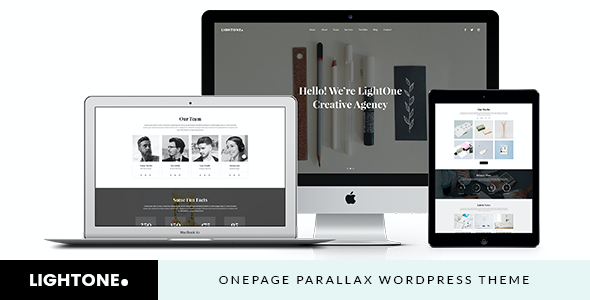 test LightOne - Onepage Parallax WordPress Theme