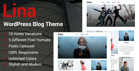 test Lina - Responsive WordPress Blog Theme