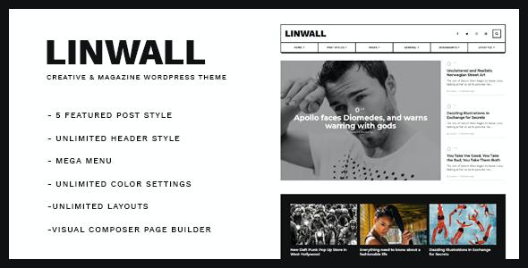 Test du thème WordPress Linwall , découvrez notre avis