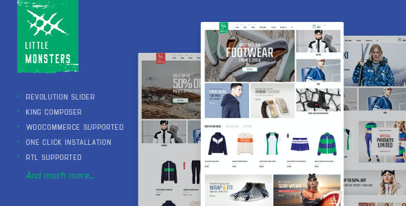 test Littlemonsters - Sport Shop WooCommerce WordPress Theme