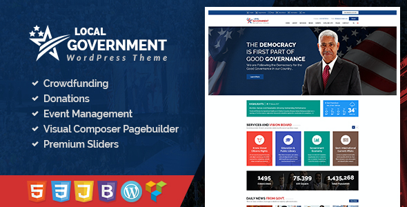 test Local Government WordPress Theme for Town & Municipality Websites