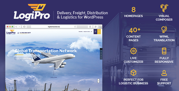 test LogiPro - Delivery, Freight, Distribution & Logistics for WordPress