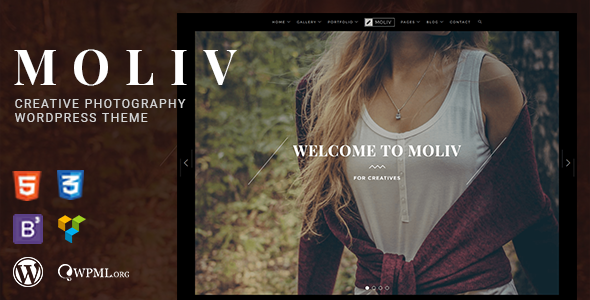 test MOLIV - A Creative Photography Portfolio WordPress Theme