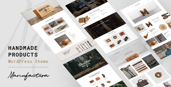 test Manufactura - Handmade Crafts, Artisan, Artist WordPress Theme