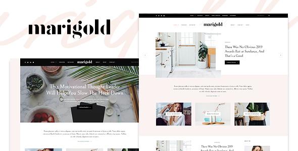 Test du thème WordPress Marigold , voici notre avis