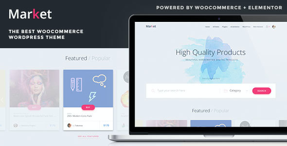 test Market - Online Store WooCommerce WordPress Theme