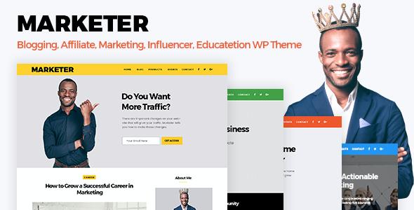 Test du thème WordPress Marketer , découvrez notre avis