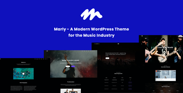 test Marly - A Modern WordPress Theme for the Music Industry