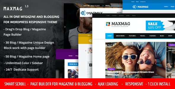 test Maxmag - Magazine and Blogging WordPress Theme