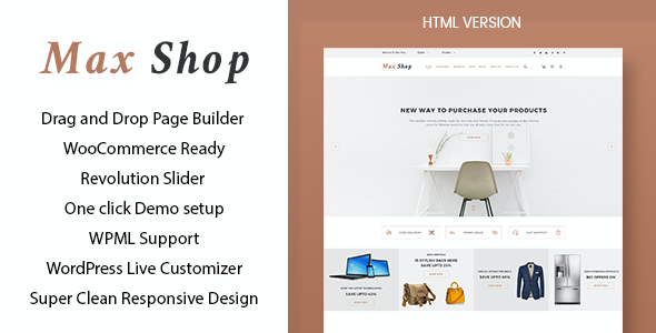 test Max shop - WooCommerce WordPress Theme