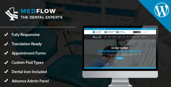 Test du thème WordPress Medflow , voici notre avis