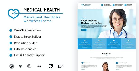 Test du thème WordPress MedicalHealth , découvrez notre avis