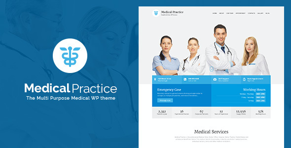 Test du thème WordPress Medical Practice , voici notre avis