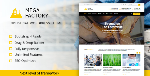 test Mega Factory - Industrial WordPress Theme