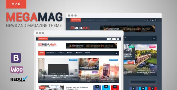 Test du thème WordPress MegaMag , découvrez notre avis