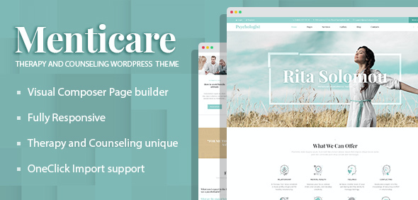 test Menticare - Therapy and Counseling WordPress Theme