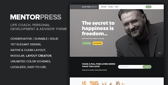 Test du thème WordPress MentorPress , découvrez notre avis