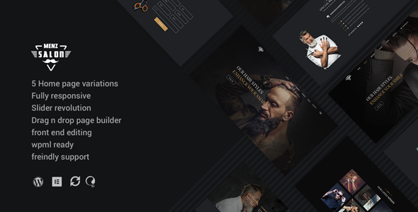 test MenzSalon - Barber & Salon WordPress Theme