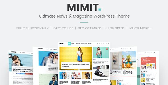 Test du thème WordPress Mimit , découvrez notre avis