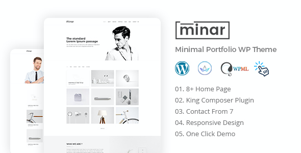 test Minar - Minimal Portfolio WordPress Theme