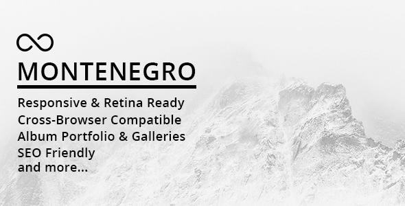 Test du thème WordPress Montenegro Minimal Photography WordPress Theme , voici notre avis