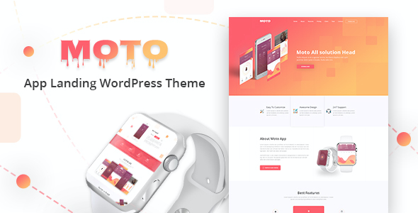 test Moto - WordPress Landing Page Theme
