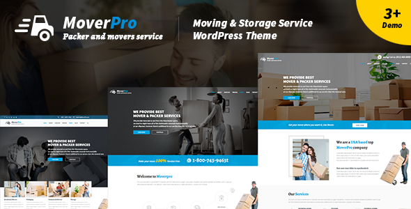 test Mover Pro - WordPress Theme for Packers & Movers