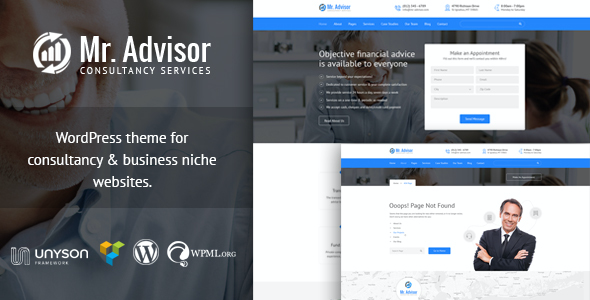 test Mr Advisor - Finance and Consultancy WordPress Theme