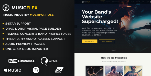 test MusicFlex - Music Theme for Bands & Musicians