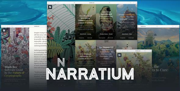 Test du thème WordPress Narratium , découvrez notre avis