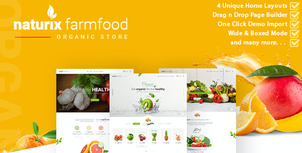 test Naturix - Organic Store Woocommerce Theme with Drag n Drop Page Builder