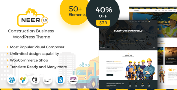 test Neer - Construction Business WordPress Theme