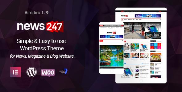 Test du thème WordPress News247 , voici notre avis