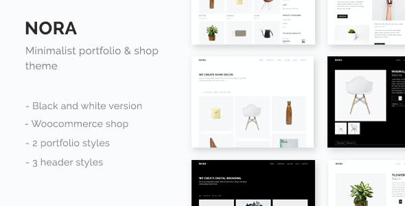 test Nora - Minimal Portfolio & Shop Theme