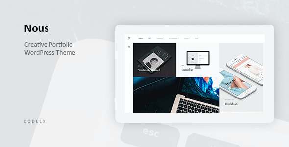 test Nous - Creative Portfolio WordPress Theme