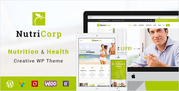 Test du thème WordPress Nutricorp , voici notre avis