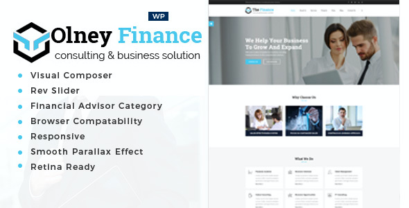 Test du thème WordPress Olney Finance , voici notre avis